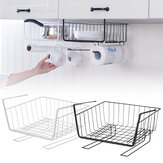 Metal Cabinet Hanging Baskets Under Shelf Storage Rack Mount Holder Organizer