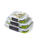 Naturehike NH18G001-J 350/600ml Lunch Box Silicone Foldable Food Container Camping BBQ Picnic