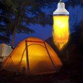 7W USB перезаряжаемый эффект пламени 108 LED Blub Tent Light Emergency Лампа для На открытом воздухе Кемпинг Пеший туризм