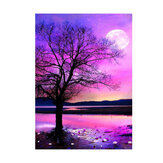 DIY 5D Diamond Painting Kit Night Tree Landscape Handmade Craft Cross Stitch Embroidery Home Wall Decorations