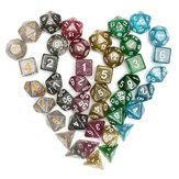 42Pcs Polyhedral Кости Набор D20 D12 D10 D8 D6 D4 Игры с Сумка бархатными мешочками
