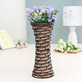 28cm vid Rotin florero de mimbre Botella de la flor ornamentos zakkz arreglo de flores de decoración para el hogar