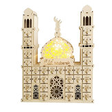 Ramadan Decoration Eid Mubarak Countdown Calendar Ornament Small Wooden Candy Gift Drawer For Home Party Festival