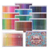 BRUTFUNER 260 цветов Масло Набор цветных карандашей Профессиональный набор цветных карандашей для рисования для студентов, начинающих рисовать
