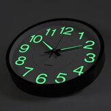 12 ``暗いサイレントクォーツ屋内屋外家で輝く壁掛け時計