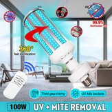 100 Вт UV Стерилизатор бактерицидный Лампа LED UVC E27 Домашняя дезинфекционная лампа