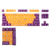 104 Keys Legend Keycaps Set Purple Yellow Colors OEM Profile ABS Keycap for Cherry Mx Gateron Kailh Switches Mechanical Keyboards