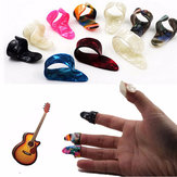 Gitaar Plastic Nail Picks Plectrums 3 Finger Picks + 1 Duim Picks Plectrums