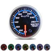 Medidor de temperatura da água de 2 polegadas 52 mm 80-260 ° F 7 cores LED Medidor de carro preto com Sensor