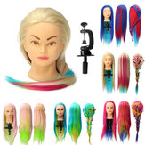 8 Colors Salon Hairdressing Braiding Practice Mannequin Hair Training Head Models With Clamp Holder