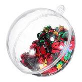 6STÜCKEWeihnachtsfeierDekoration5CM Pailletten Transparente Ball Christbaumkugel Ornament Kinder Kinder Geschenk