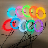 LED Strip Garland EL Wire 1M Car Interior Lighting Auto Rope Tube Line Flexible Neon Light With Battery Case