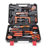 CREST 75Pcs Home Kit herramientas para reparar con caja de herramientas de plástico