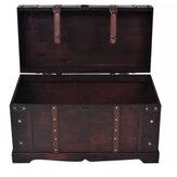 KCASA Antique Treasure Chest Storage Box Handmade Vintage Wooden Watch Storage Box Organizer Case