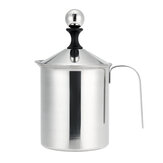 304 Stainless Steel Manual Milk Frother Double Mesh Milk Creamer Milk Foam Mesh Coffee Foamer Creamer for Coffee Shop