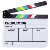 Clapperboard TV Film Filme Clapper Board Handmade Colorido Erase Diretor Cut Prop