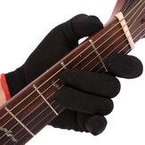 Ponta do dedo Anti-dor Mão esquerda Luva de guitarra Luva baixa Prática Ponta dos dedos Luva Para músicos profissionais iniciantes