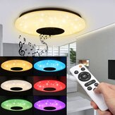 Moderno 60W RGB LED Luz de techo bluetooth Music Speaker Lámpara Control remoto APP Control