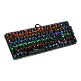 MantisTek® GK1 azul interruptor 104 teclas backlit teclado de jogo mecânica nkro 4 modos de iluminação