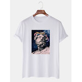 Ofertas especiales de Banggood Cartoon Printing Crew Cuello Camisetas casuales transpirables
