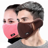 Inverno Máscara Esticado Proteja as orelhas à prova de vento Máscara Anti Dust Máscara Boca Máscara Espinha grossa Earmuffs