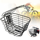 Bicycle Front Basket Metal Wire Mountain Bike Storage Bag Case Hanging Basket With Cover
