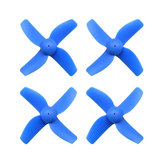 4 Pairs HB31 31mm 4-blade Propeller 1.0mm Mounting Hole for RC Drone 0603 Brushless Motor