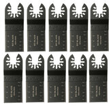 10pcs 35mm High Carbon Steel viu as lâminas para Bosch Fein Porter Black e Decker Oscilating Multi Too
