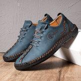 Erkek El Dikiş Mikrofiber Soft Sole Günlük Deri Ayakkabı