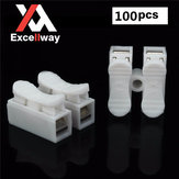 Excellway® CH2 Quick Wire Connector Terminal Block Spring Connector White