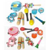 طقم مكون من 10 قطع من آلات موسيقية أورف للأطفال