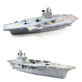 Simulation Aircraft Carrier Static Model With Six Airplane For Kids Children Christmas Gift Toys