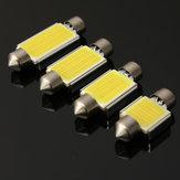 6W 6000K COB LED C5W Festoon Ampul Hayır Hata Numarası Lisans Kap Açık Beyaz
