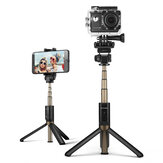 BlitzWolf BW-BS3 Sports Alsidige 3 i 1 Bluetooth Tripod Selfie Sticks til Sport Kameratelefon