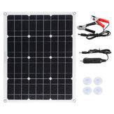 50W monokristályos szilícium napelem kettős USB 12V / 18V vízálló napelem kültéri lakóautóhoz