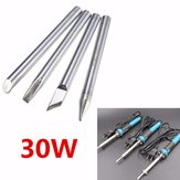 3.7mm Dia 30W Replaceable Internal Heating Electric Soldering Iron Bit Silverline Four Shape Tips