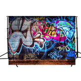 5x3FT Graffiti Wall Theme Fotografia Tło Photo Studio Studio Rekwizyty