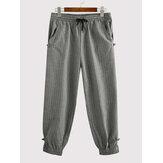 Erkek Çizgili Lastikli Günlük Jogger Pantolon