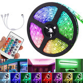 5M DC12V LED Strip Light 5050 RGB Rope Flexible Changing Lamp with Remote Control for TV Bedroom Party Home Christmas Decorations Clearance Christmas Lights