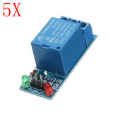 5pcs 5V Low Level Trigger One 1 Channel Relay Module Interface Board Shield DC AC 220V PIC AVR DSP ARM MCU Geekcreit for Arduino - products that work with official Arduino boards