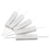 10 piezas 10W 10 ohmios 10R Cerámico Resistencia de cemento