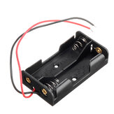 AA Size Power Battery Storage Case Box Holder Leads With 2 Slots