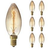 6 STÜCKE Elfeland Dimmbar E14 25 Watt Retro Edison Vintage Glühlampe für Indoor Garten AC220V