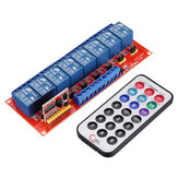 Multi-function Infrared Remote Control 8 Channel Relay Module Inching Switch/Self-lock Switch 5V/12V/24V Geekcreit for Arduino - products that work with official Arduino boards