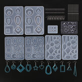248 stks diy siliconen oorbel hanger schimmel hars epoxy sieraden maken schimmel gereedschap