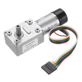 Machifit JGY-370 DC 24V Motor Reduction Gear Turbine Worm Self-locking Encoder Signal Feedback Motor