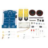 طقم DIY صغير تتبع من D2-1 مع عدة محركات TT مزدوجة