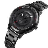 SKMEI 9210 Fashion Business Style Men Watch 3D Dail Wodoodporne zegarki kwarcowe ze stali nierdzewnej