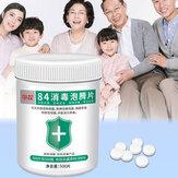 500pcs 84 comprimés désinfectants instantanés Sécurité effervescente Protection de la maison propre