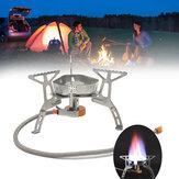 DobrávelaoarlivreMiniFogão de Cozinha À Prova D 'Água Queimador de Gás Forno Camping Piquenique